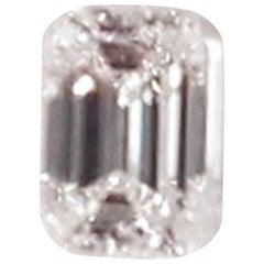 GIA Certified Emerald Cut Diamond 0.53 F SI2