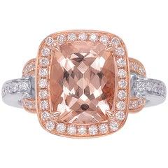 Frederic Sage 2.50 Carat Morganite Diamond Ring