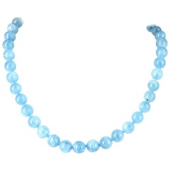 Decadent Jewels high quality Aquamarine Silver Necklace