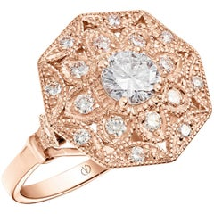 Mayanne  Art Déco style Rose Gold Diamond Ring Designed by Valerie Danenberg