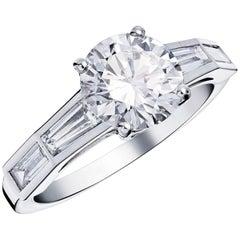 Octavie 1,56ct Diamond Art Deco Engagement Ring   Designed by Valerie Danenb