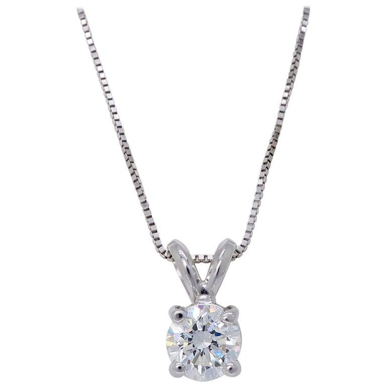 Round Brilliant Cut Diamond Solitaire Necklace