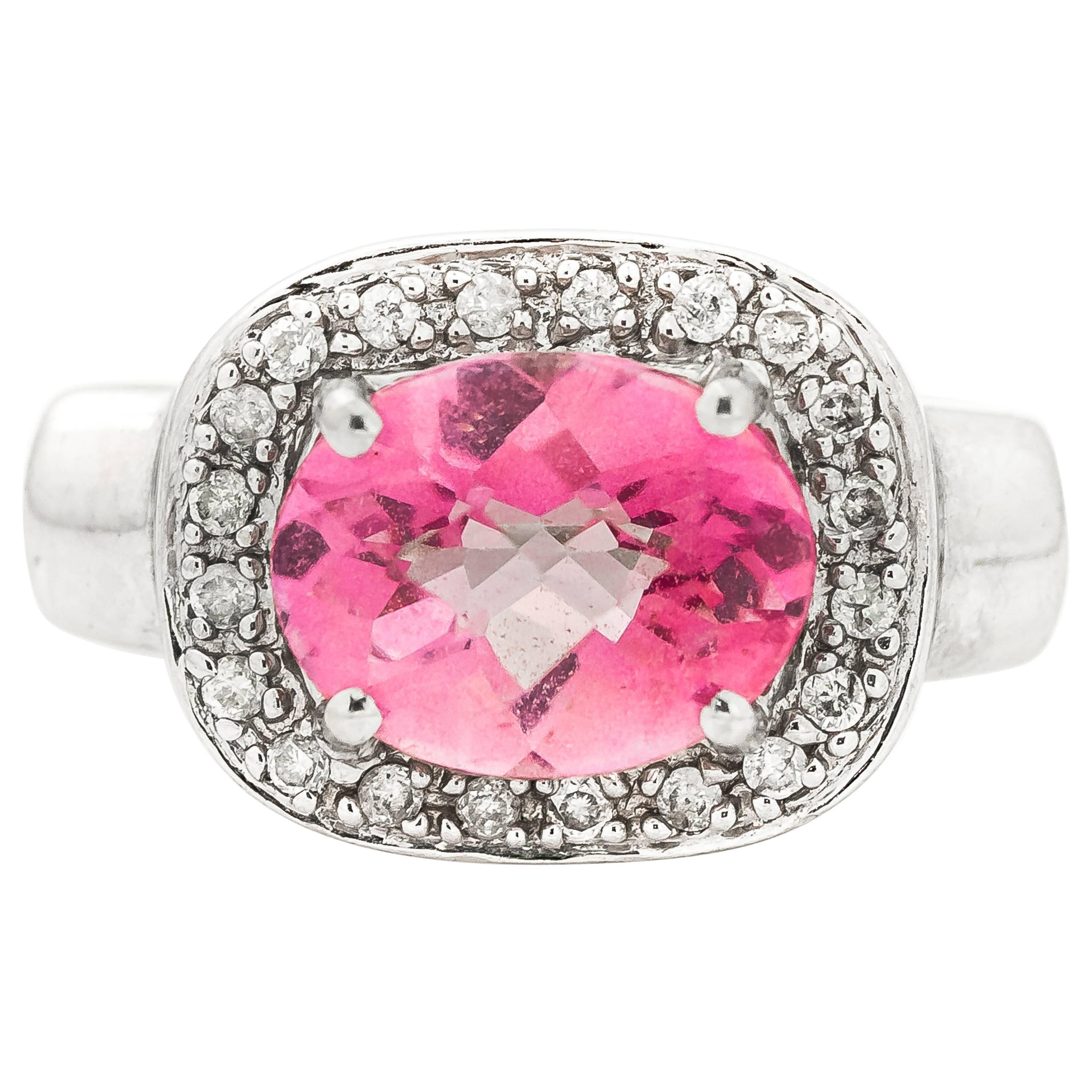 Ballerina Ring with 5 Carat Tourmaline and Diamonds For Sale at 1stdibs