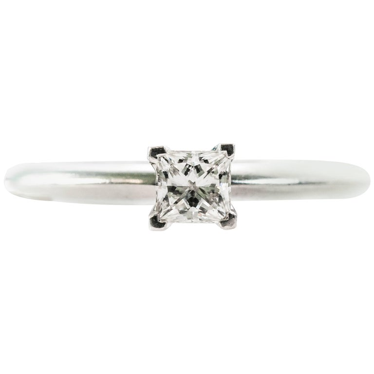 Tiffany & Co. 0.33 Carat Diamond Solitaire and Platinum Engagement Ring