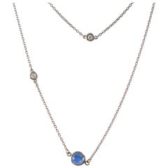 Tiffany & Co. Diamond and Blue Sapphire Necklace