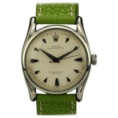 Rolex Stainless Steel Bombé Wristwatch Ref 5018, circa 1960s