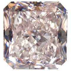GIA Certified 5.14 Carat Fancy Light Pink Type 2A Diamond
