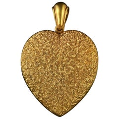 Antique Victorian Large Heart Locket, circa 1880