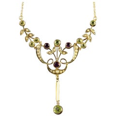Antique Victorian Gold Suffragette Necklace, circa 1900