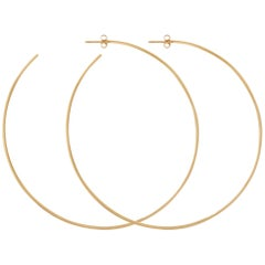 Extra Large Hoop Earrings in Yellow Gold by Allison Bryan