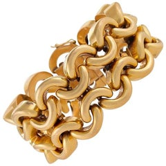French 1950s Gold Link Bracelet