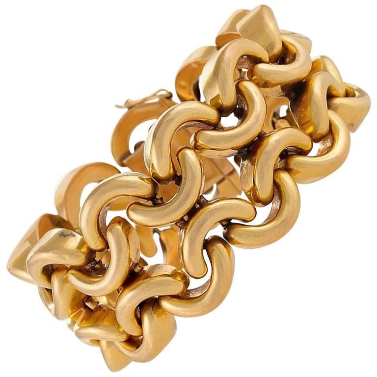 French 1950s Gold Link Bracelet