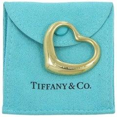Tiffany & Co. Elsa Peretti Yellow Gold Open Heart Pendant