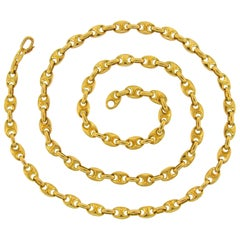 Van Cleef & Arpels Yellow Gold Nautical Link Chain Necklace