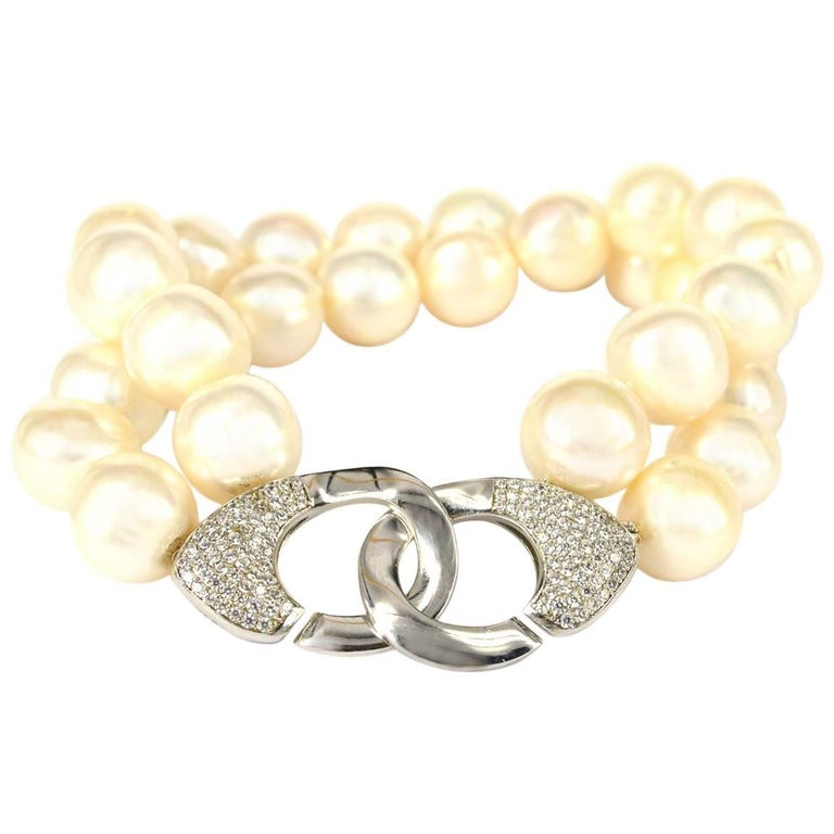 Decadent Jewels Fresh Water Pearl Silver Two-Strand Bracelet
