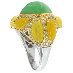 Budding Sunflower Ring, a Zorab Creation