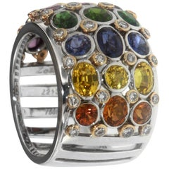 Zorab Creation Multi-Color Precious Gemstone Ring