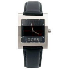 Dunhill stainless Steel Rectangular Wristwatch
