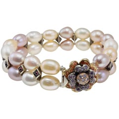 Luise Beaded Bracelest and Gold Clasp