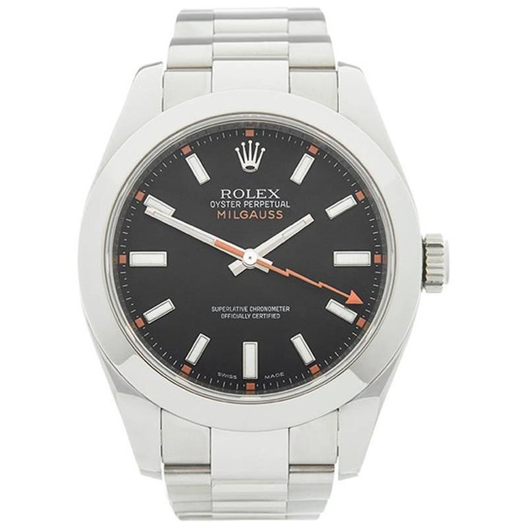 Rolex Stainless Steel Milgauss Automatic wristwatch ref 116400, 2007