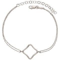 White Gold Silver Rhodium Vermeil Yellow Gold Rose Gold Logo Bracelet