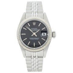 Rolex Ladies White Gold Stainless Steel Datejust Automatic wristwatch, 1998