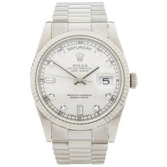 Rolex White Gold Day-Date Automatic wristwatch ref 118239, 2003