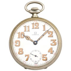 Omega Gousset Mechanical Pocket Watch circa 1915
