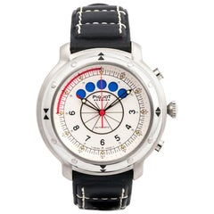 Piquot stainless Steel Meridien Regatta Chronograph Automatic Wristwatch