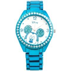 Disney stainless Steel Mickey mouse Blue Quartz Wristwatch