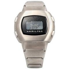 Hamilton stainless Steel Men in Black LCD Wristwatch