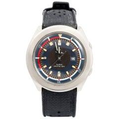 LIP stainless Steel Super Nautic-Ski Electronic Wristwatch, circa 1972