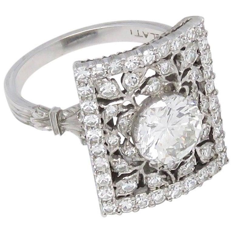 1970s Mario Buccellati Diamond White Gold Ring