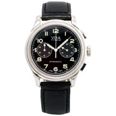 Vixa stainless Steel Type 21 Army Reissue French Airforce Automatic Wristwatch