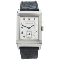 Jaeger LeCoultre Stainless Steel Reverso Night and Day Mechanical wristwatch