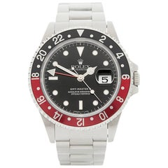 Rolex Stainless Steel GMT-Master II Coke Automatic wristwatch ref 16710, 1995