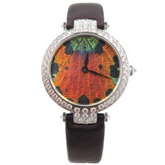 Harry Winston Ladies White Gold Precious Butterfly Automatic Wristwatch