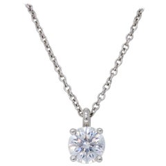 Platinum Tiffany & Co. .45 Carat Diamond Necklace