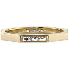 Yellow Gold French Cut Diamond Band