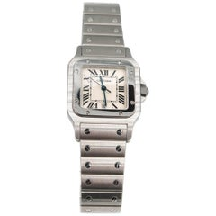 Cartier Ladies Stainless Steel Santos de Galbee Quartz Wristwatch