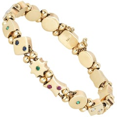 Victorian Gold and Gemstone Slide Bracelet