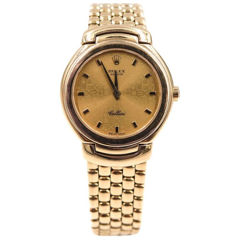 Rolex Ladies Yellow Gold Cellini Quartz Wristwatch