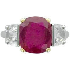 Bulgari No Heat Burma 4.42 Carat Natural Ruby Diamond Gold Ring