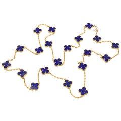 Van Cleef & Arpels Lapis Lazuli Alhambra Necklace
