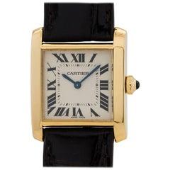 Cartier Yellow Gold Tank Francaise Midsize Quartz Wristwatch, circa 2000