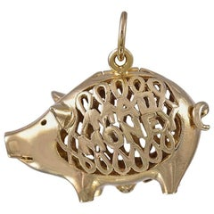 Gold Pig Mad Money Charm