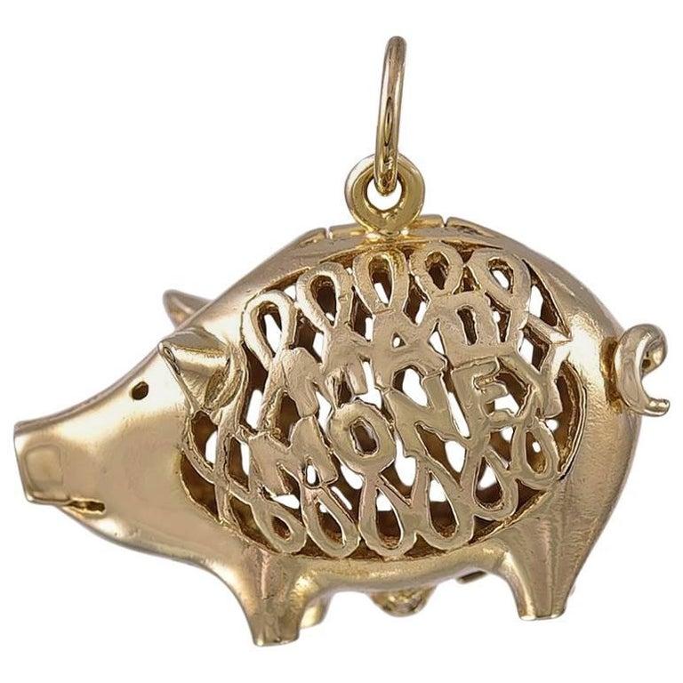 Gold Pig Mad Money Charm