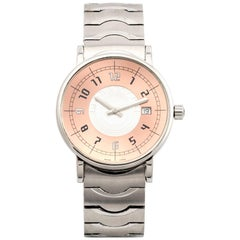 Montblanc stainless steel Round Quartz Wristwatch