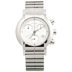 St Dupont stainless Steel Chronograph Water resistant Quartz Wristwatch