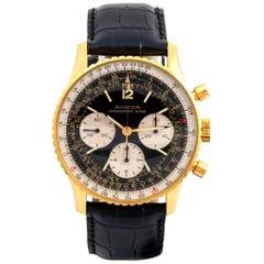 Aviation Gold Plated Navitimer Chronograph Mechanical Wristwatch, 1980
